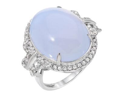 Full Moon Chalcedony Ring